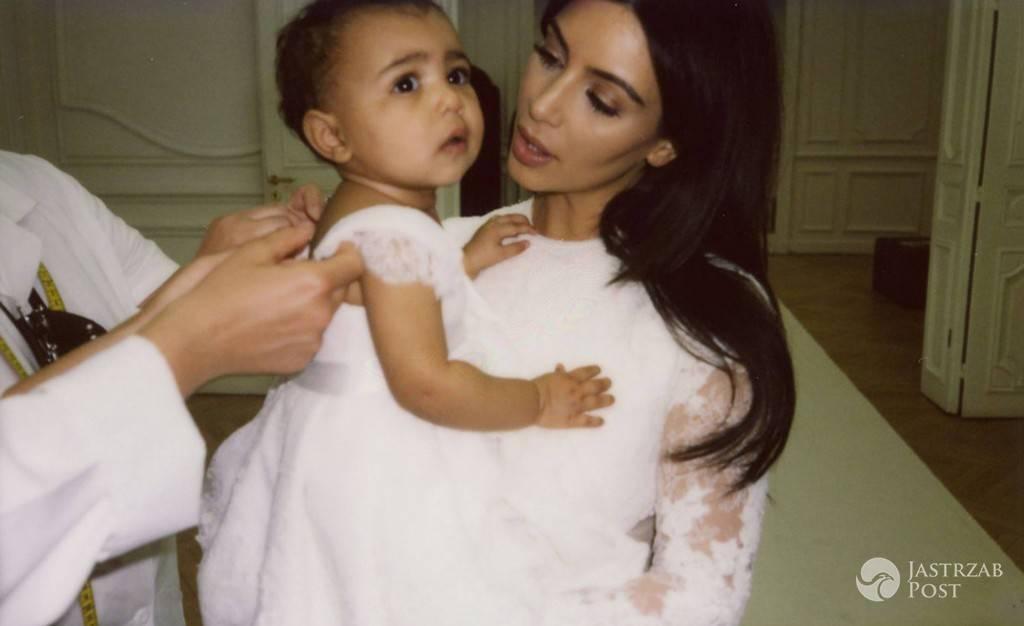 Kim Kardashian i North West trzy lata temu