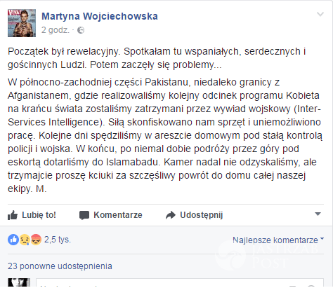 Martyna Wojciechowska FB