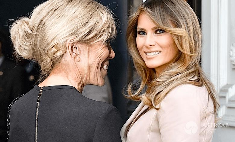 Brigitte Macron i Melania Trump NATO 2017