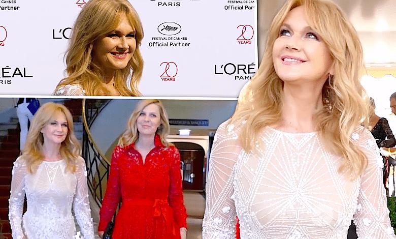 Grażyna Torbicka w Cannes 2017 na czerwonym dywanie