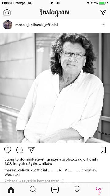 Marek Kaliszuk żegna Zbigniewa Wodeckiego