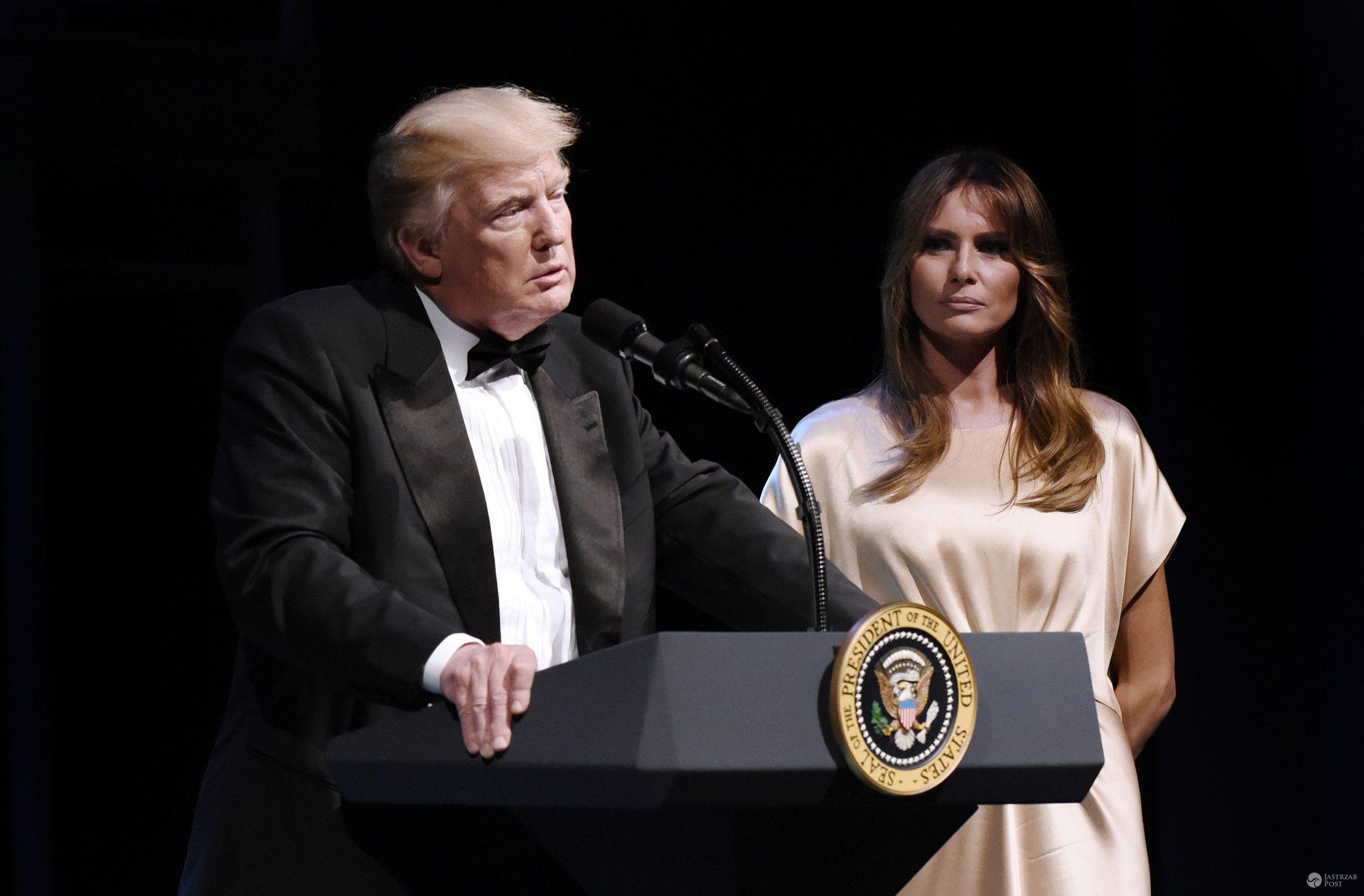 Donald i Melania Trump na przyjęciu Fords Theatre