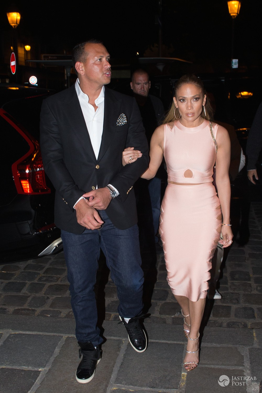 Jennifer Lopez i Alex Rodriguez w Paryżu na kolacji
