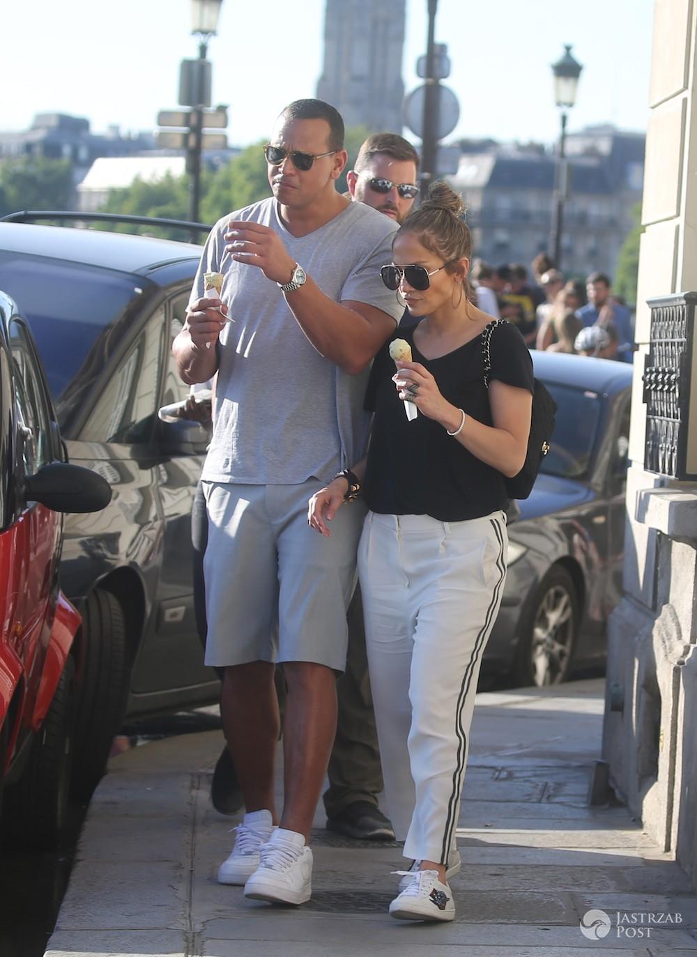 Jennifer Lopez i Alex Rodriguez z paryskimi lodami