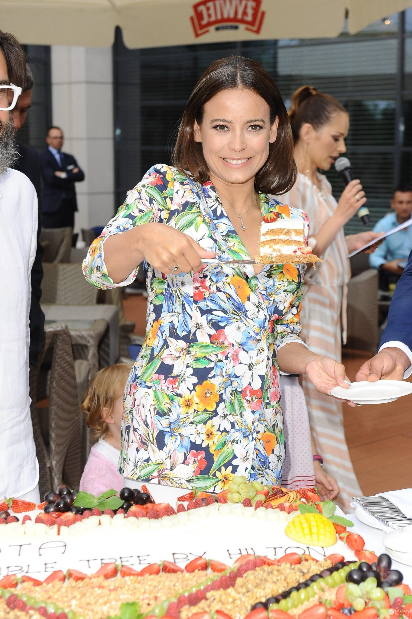Anna Mucha na urodzinach Hotelu Hillton