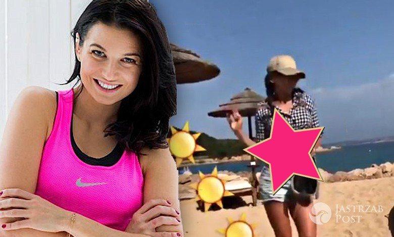 Anna Lewandowska chwali się piękną figurą na plaży