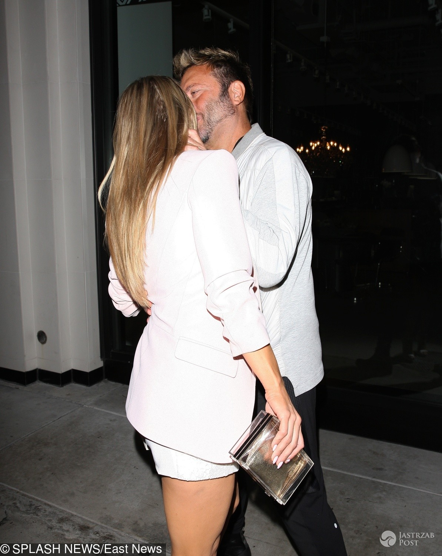 Joanna Krupa i Nico Santucci całują się
