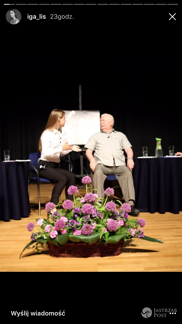 Iga lis przeprowadziła wywiad z Lechem Wałęsą