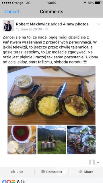 Robert Makłowicz Facebook
