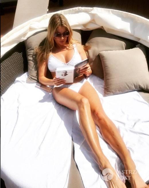Małgorzata Rozenek w drogim bikini korzysta z pięknej pogody
