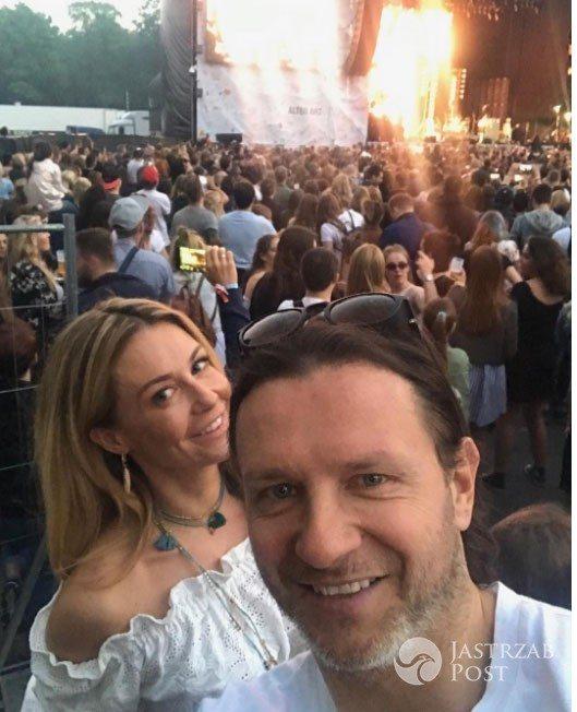 Radosław Majdan i Małgorzata Rozenek - Orange Warsaw Festival 2017, Kings of Leon