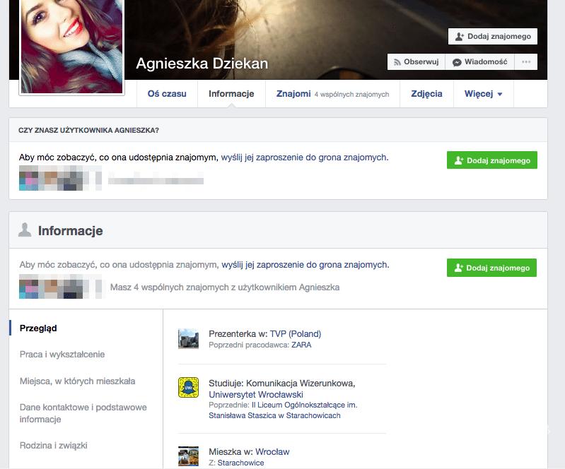 Agnieszka Dziekan Facebook