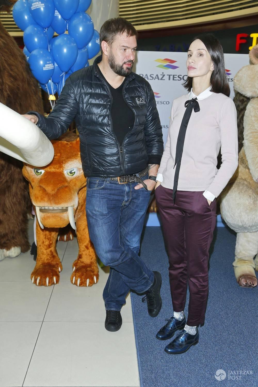Tomasz Karolak i Viola Kołakowska na imprezie