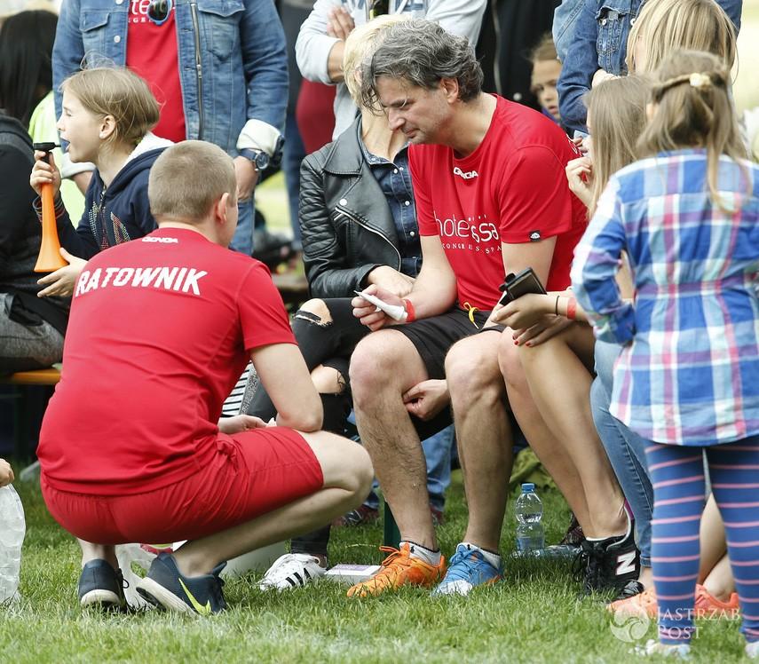 Konrad Komornicki miał wypadek podczas meczu. Nie obyło się bez pomocy ratownika
