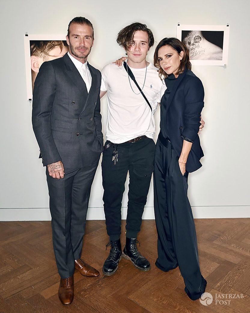 David i Victoria Beckham wspierają syna Brooklyna