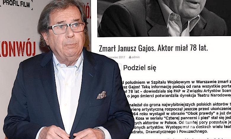 Janusz Gajos nie żyje