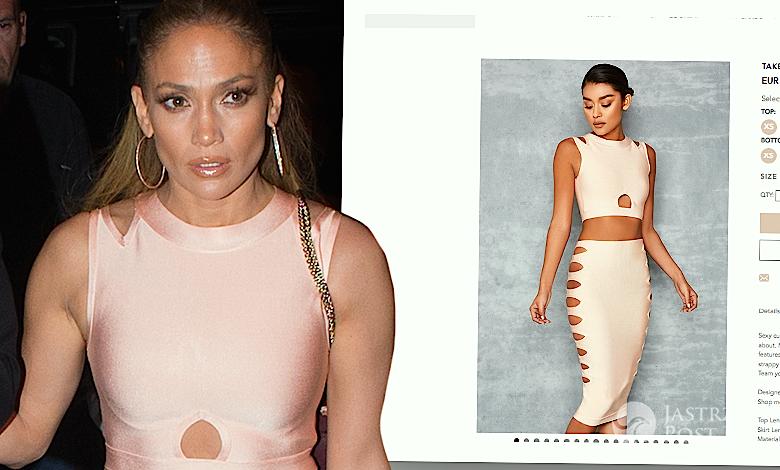 Jennifer Lopez w komplecie z sieciówki