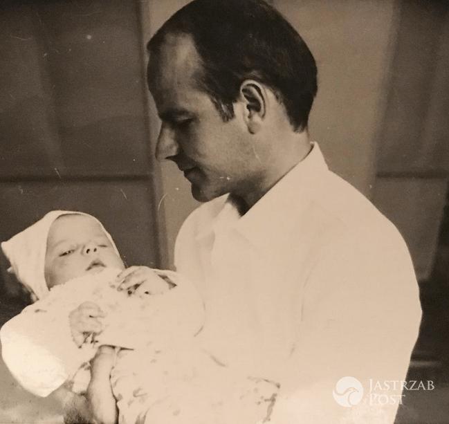 Małgorzata Kożuchowska z ojcem