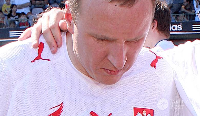 Jacek Kurski na meczu
