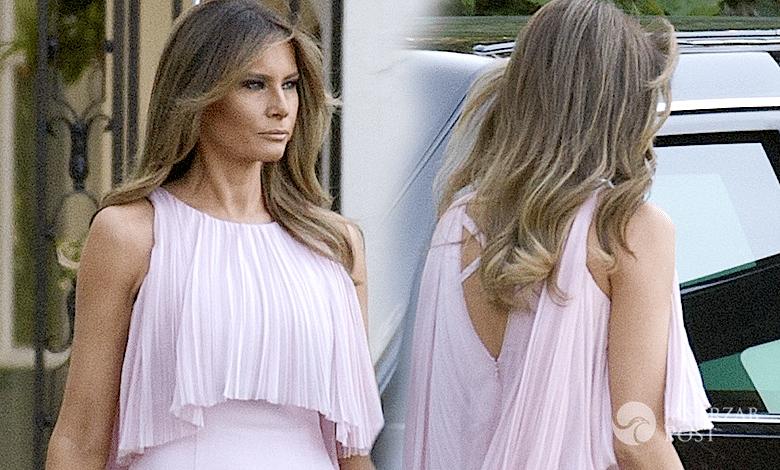 Melania Trump ślub kreacja suknia
