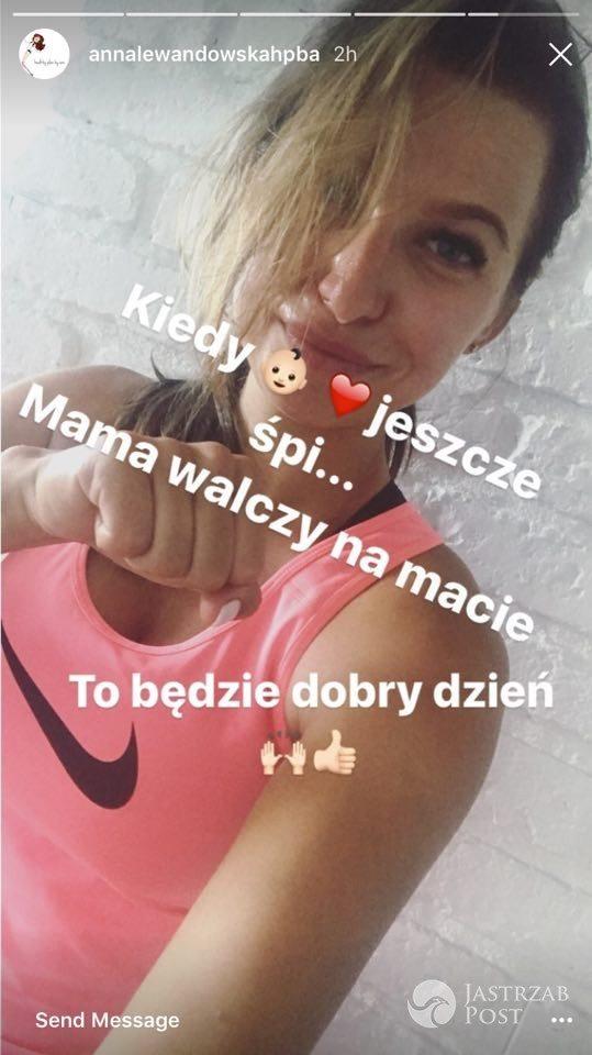 Anna Lewandowska chwali się treningiem