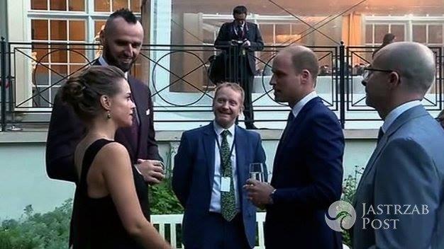 Alicja Bachleda-Curuś i Marcin Gortat na spotkaniu z księżną Kate i księciem Williamem