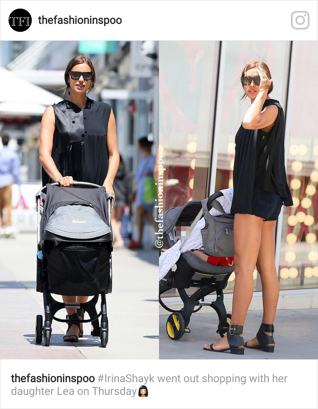 Irina Shayk z córką Leą na spacerze