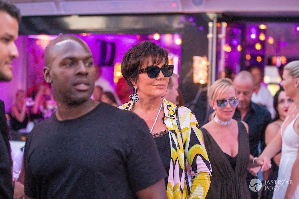 Kris Jenner i Corey Gamble w Saint-Tropez