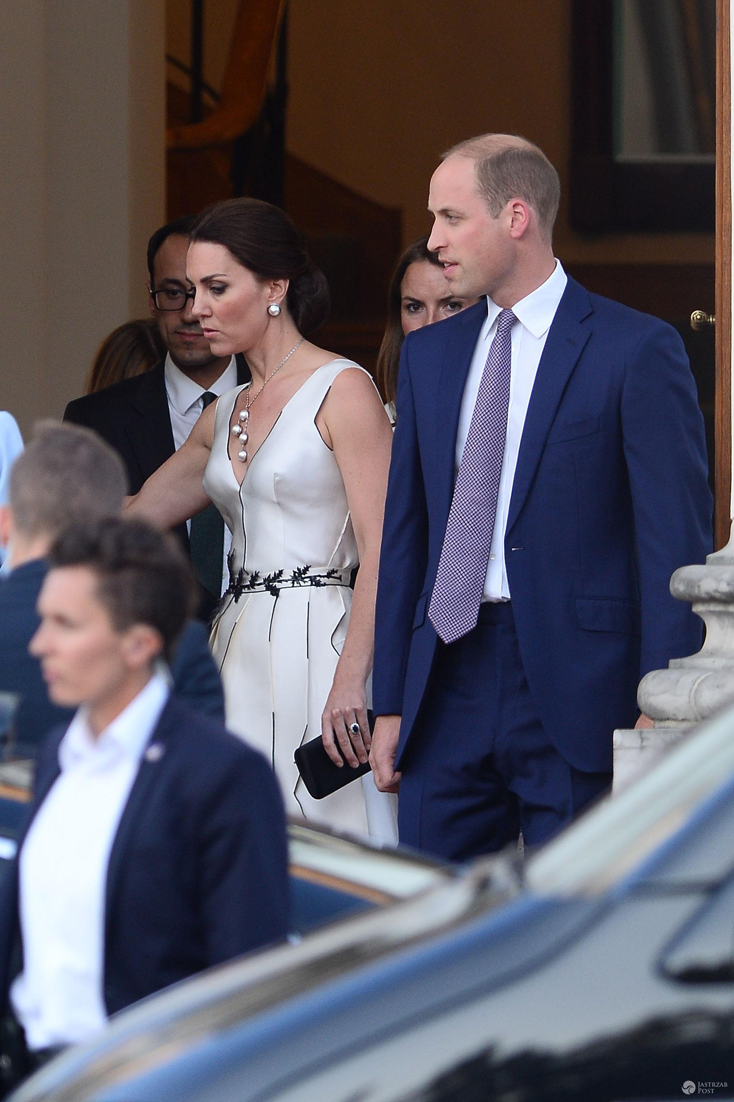 Impreza w Łazienkach z okazji wizyty książęcej pary