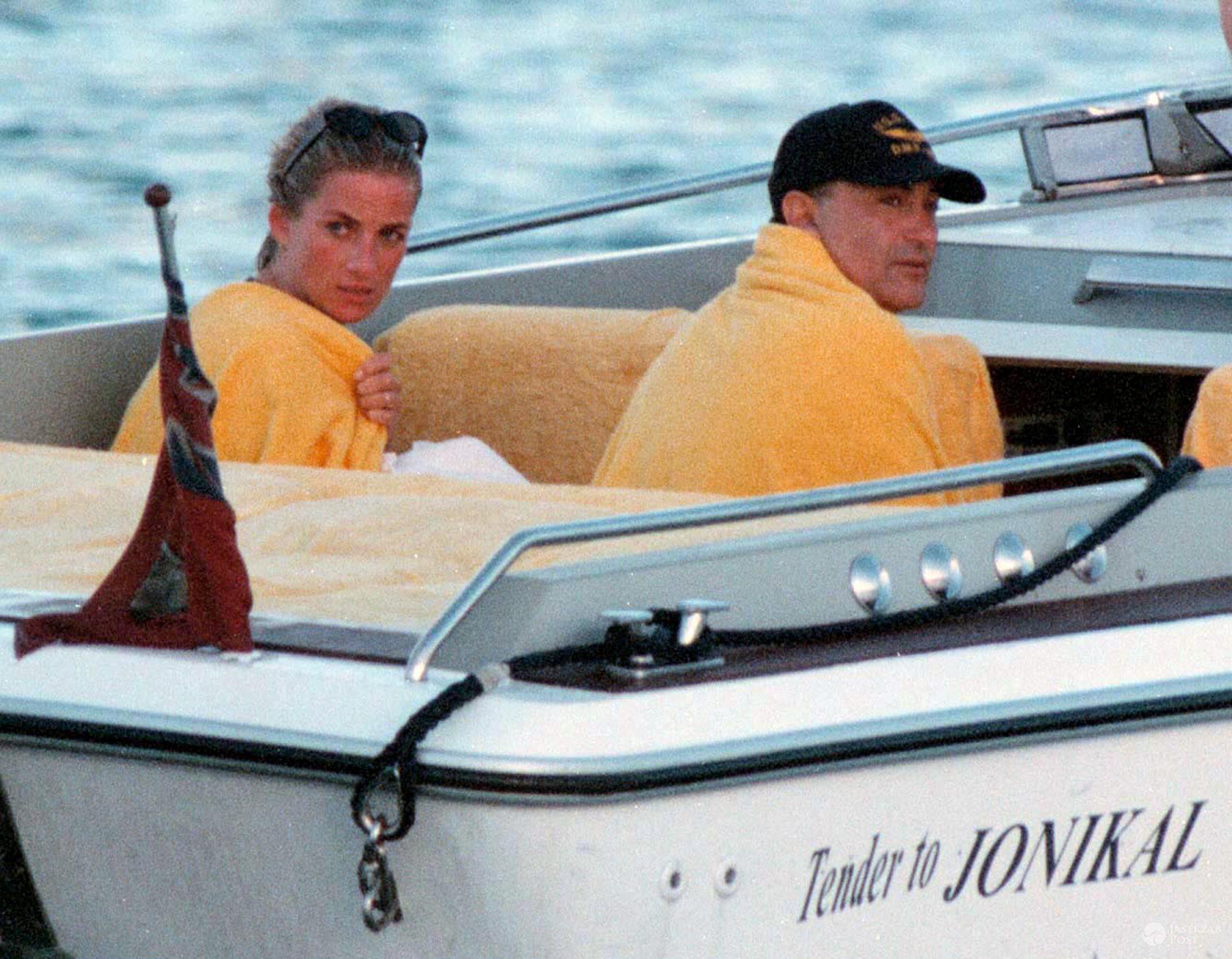 Diana i Dodi Al-Fayed na wakacjach we Francji