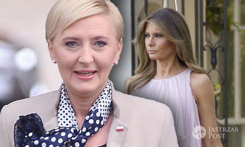 Agata Duda szykuje stylizację na spotkanie z Melanią Trump