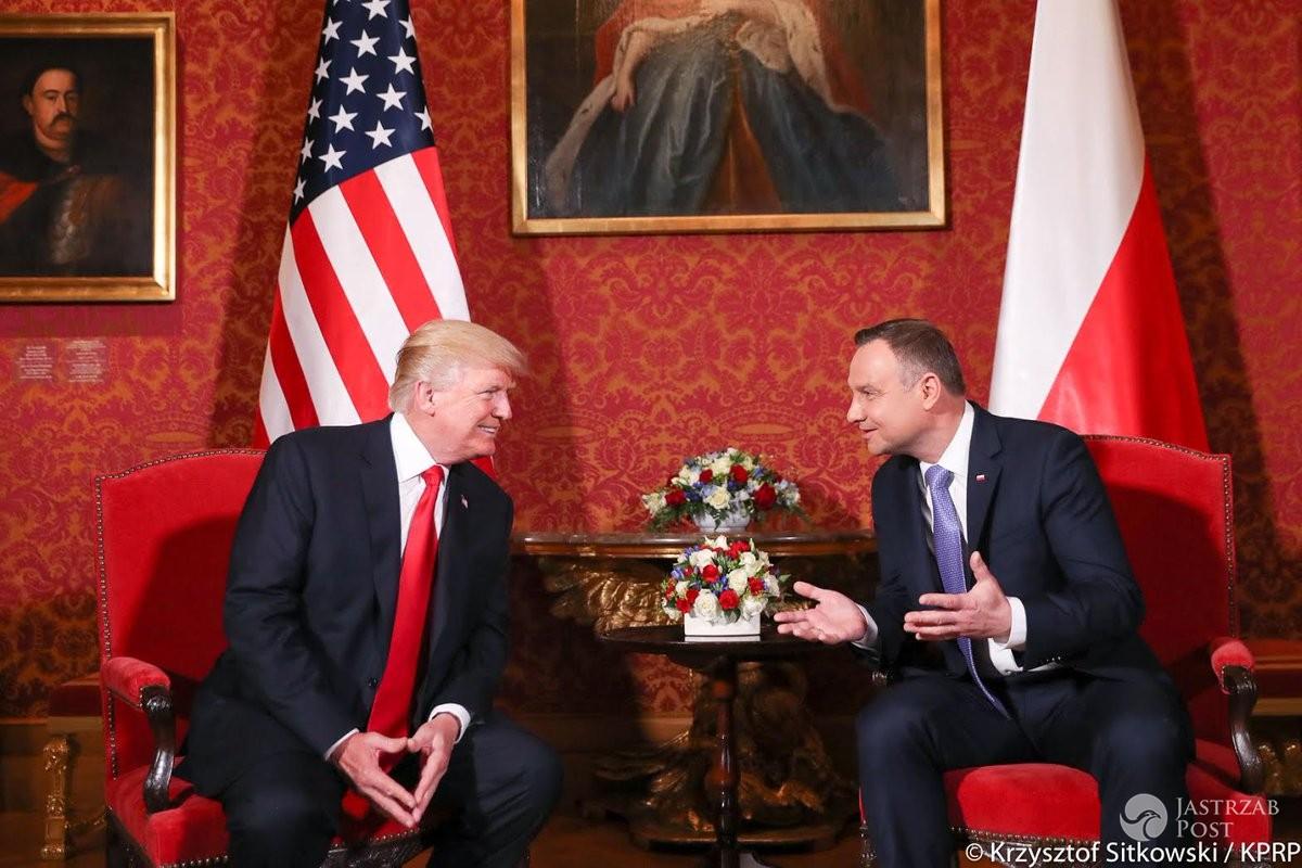 Donald Trump na spotkaniu z Andrzejem Dudą