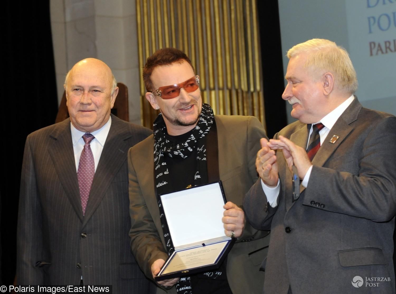 Bono i Lech Wałęsa w Paryżu, 2008 rok