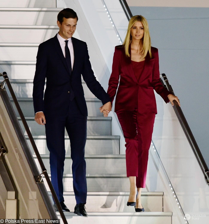 Ivanka Trump z mężem w Polsce na lotnisku w Warszawie