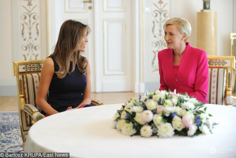 Melania Trump i Agata Duda spotkały się na kawę w Belwederze