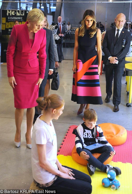 Melania Trump i Agata Duda w Centrum Kopernika