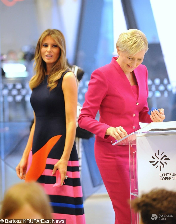 Melania Trump i Agata Duda - pojedynek na stylizacje w Warszawie