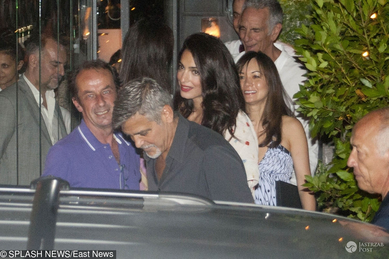 George i Amal Clooney na kolacji we Włoszech