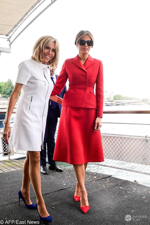 Melania Trump i Brigitte Macron w Paryżu