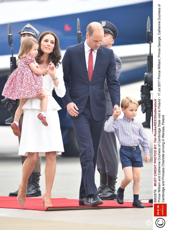 Kate i William po przylocie do Warszawy