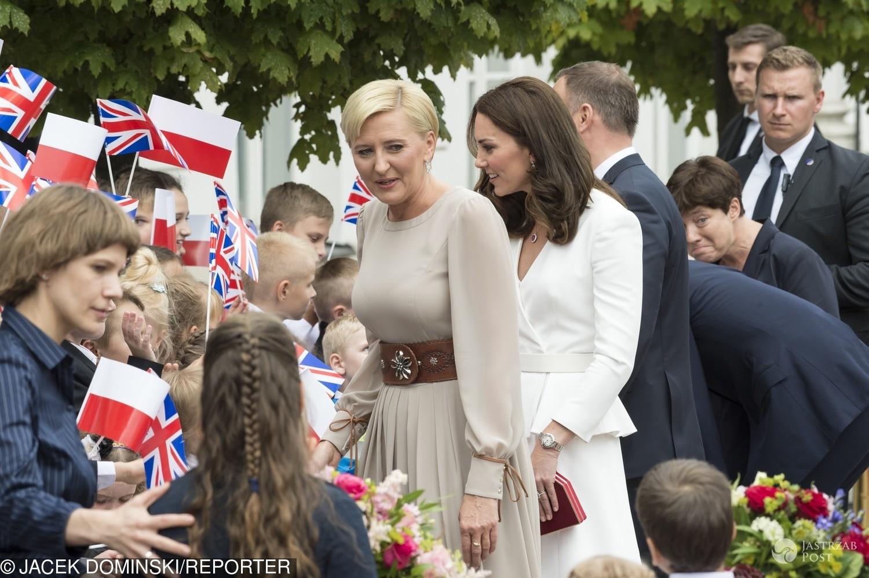Agata Duda z księżną Kate - która wyglądała lepiej?