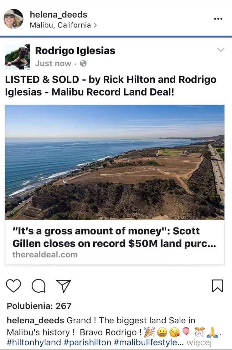 Rodrigo Iglesias sfinalizował historyczną transakcję. Helena Deeds musi być dumna!