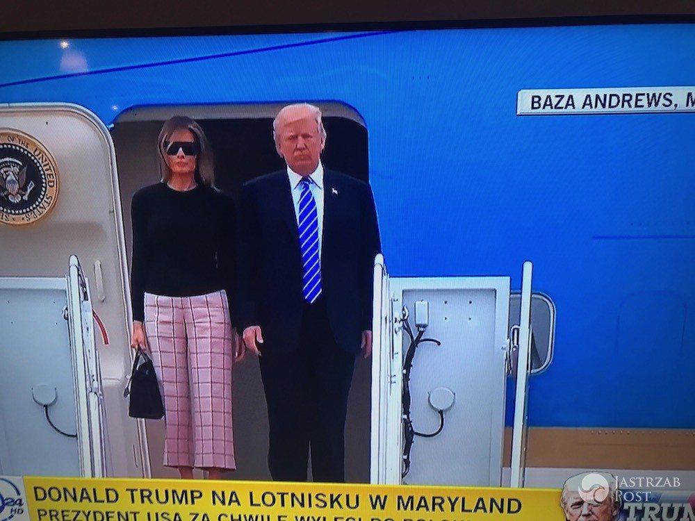 Melania Trump i Donald Trump będą w Warszawie o 22.00