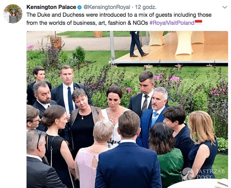 Wpadka rodziny królewskiej z polską flagą