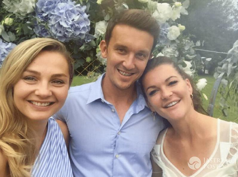 Małgorzata Socha na ślubie Agnieszki Radwańskiej i Dawida Celta