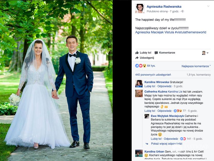 Agnieszka Radwańska o ślubie z Dawidem Celtem