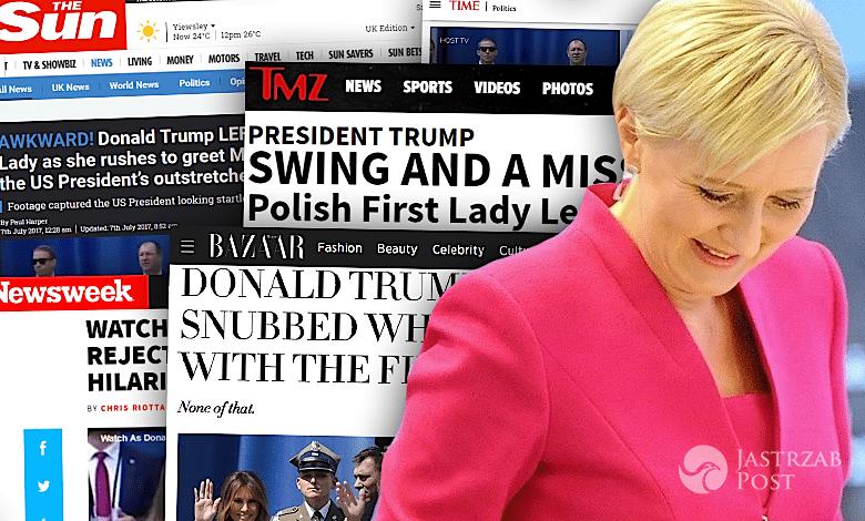 Agata Duda wpadka zagraniczne media
