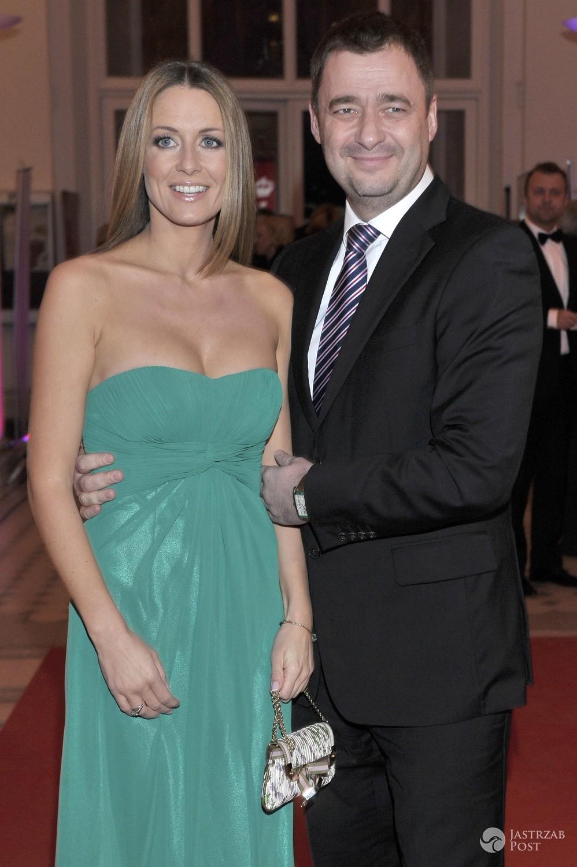 Jacek Rozenek z żoną Małgorzatą