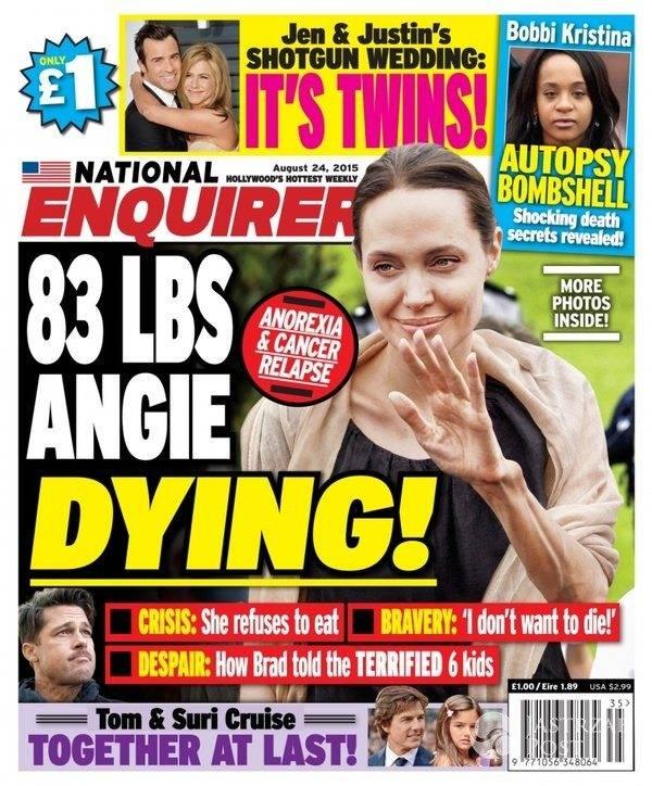 Wychudzona Angelina Jolie na okładce