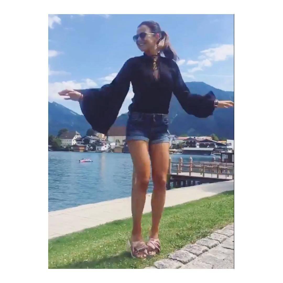 Ania Lewandowska z Klara i przyjaciółkami pojechała na weekend nad jezioro do Bawarii